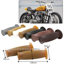 motorcycle retro rubber classic motorbike handle bar unviersal 22MM vintage moto handlebar for harley cafe racer motorcycle grip vodool 2pcs rubber motorcycle grip 22mm motorcycle vintage handlebar grip for all motorcycle high quality cars styling