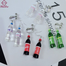 Heeda יצירתי יצירתי מים מינרליים בקבוקי עגילים לנשים אופנה נגד אלרגיה Eardrop 2018 חדש כיף ברינקוס מועדון לילה קישוט