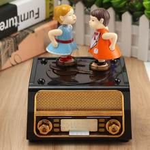 Lovely Music Box Kids Musical Jewellery Box Rectangle Musical Case with Drawer Home Room Table Decoration Valentine's Day Favor