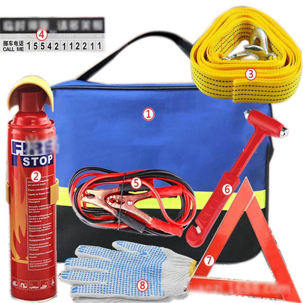 Fire Extinguisher Safety Hammer First Aid Set Zip Emergency Car Kit Suitable For Travel And Outdoor Use.
