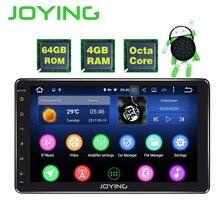 JOYING 4 GB RAM 64 GB ROM single 1 din 10 inch 8 Core Android 8.1 Car Radio Stereo head unit BT HD Player Support Apple-Carplay