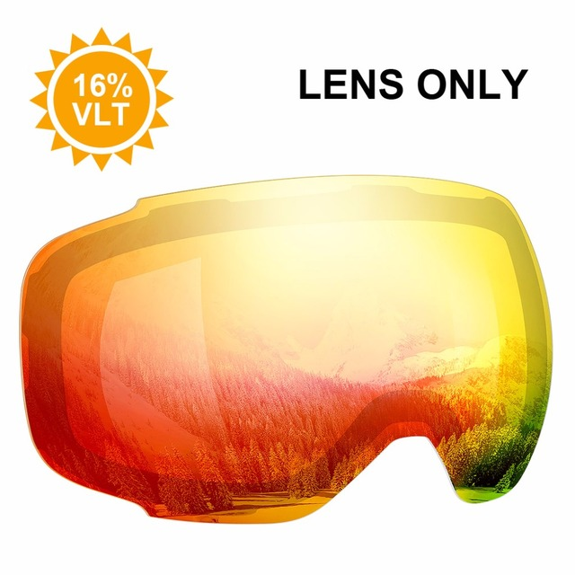 7f61dca5daa Enkeeo Ski Goggles Replacement Lenses Anti-fog 100% UV400 Protection for  Skiing Snowboarding Snowmobile Skating Winter Sports