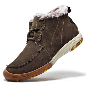 28ce9b5c89fa Super Warm Men Winter Boots Medium Cut Man Snow Shoes Slip On Running Shoes  Thick Velvet Sports Sneaker Walking Size 7-9.5