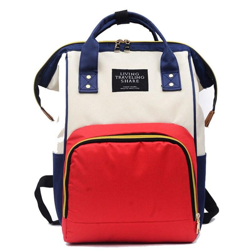 Large Capacity Backpack Fashion Mummy Maternity Nappy Bag Baby Travel Leisure Organizer Nursing Bags Care Mother Kids Backpacks