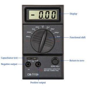 Image 2 - CM7115A pratique condensateur mètre numérique multimètre LCD affichage outil de mesure avec intégration à double pente système de convertisseur A/D