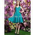 A-line  Cocktail Party Dress V-neck Knee-length Chiffon Dress