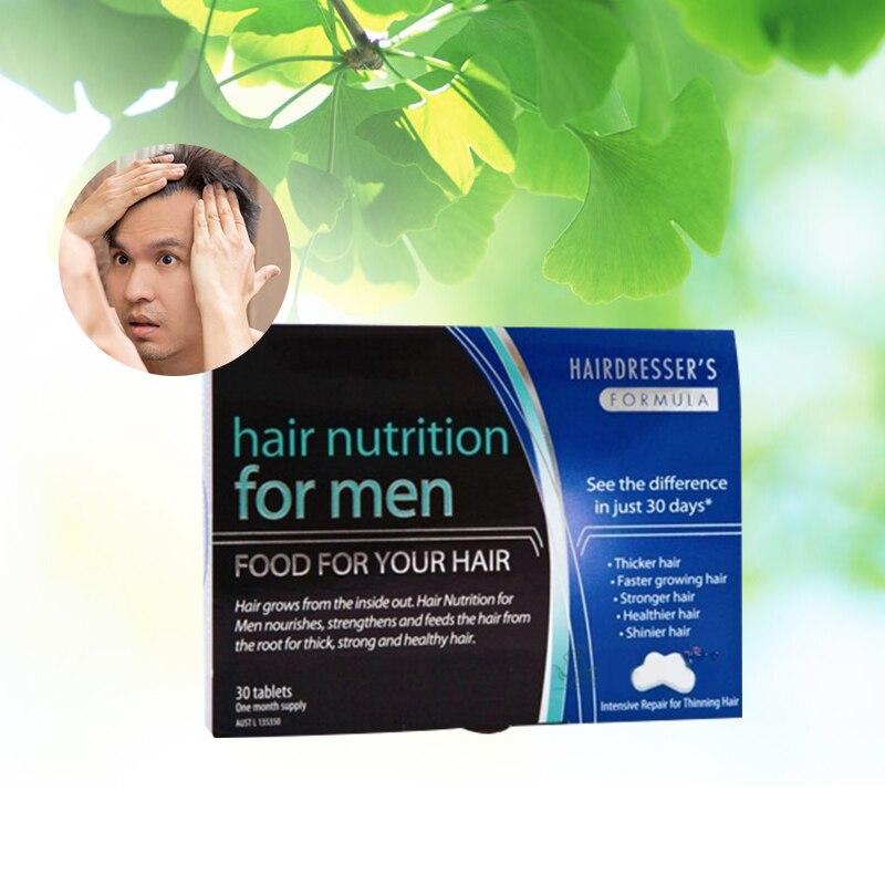 Australia Hair Nutrition 30 Tablets for Men Hair Loss support Stronger Fuller Thicker hair Shinier Faster