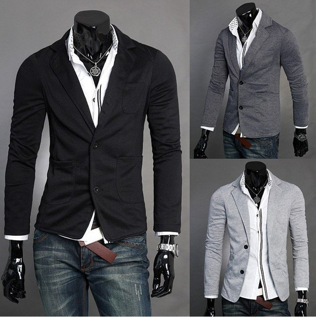 Men Fashion Slim Fit Knitting Blazer Two Button Suit Jacket Short Coat Cheap Price Jacket Free Shipping 3color Size M Xxl Df39 by Mymstorm