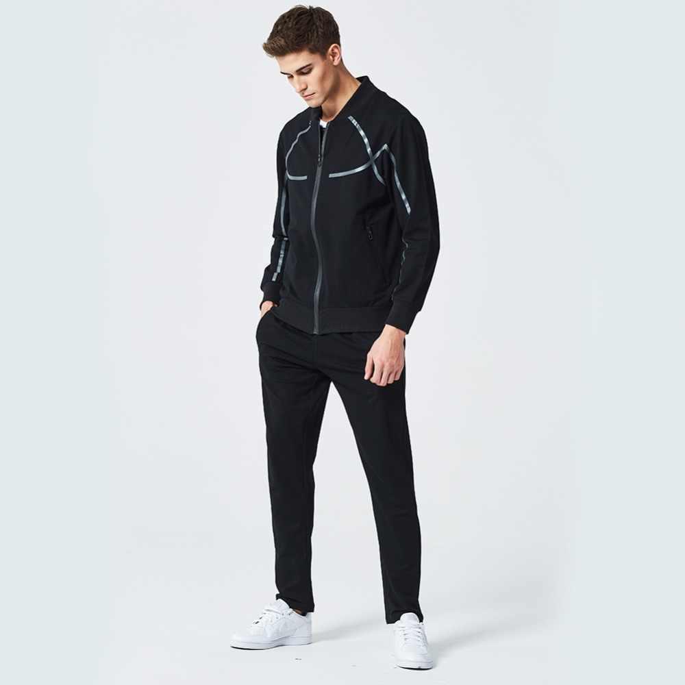2018 メンズスポーツスーツスウェットシャツトラックスーツなしパーカー男性カジュアルアクティブスーツジッパー生き抜く 2 枚のジャケット + パンツセット