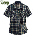 2016 fashion explosion models male short-sleeved shirt Battlefield Jeep Afs Jeep genuine fashion casual loose plaid shirt 60