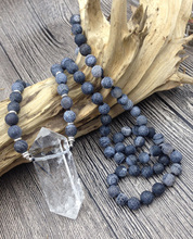 Natural Quartz Point Beaded Necklace