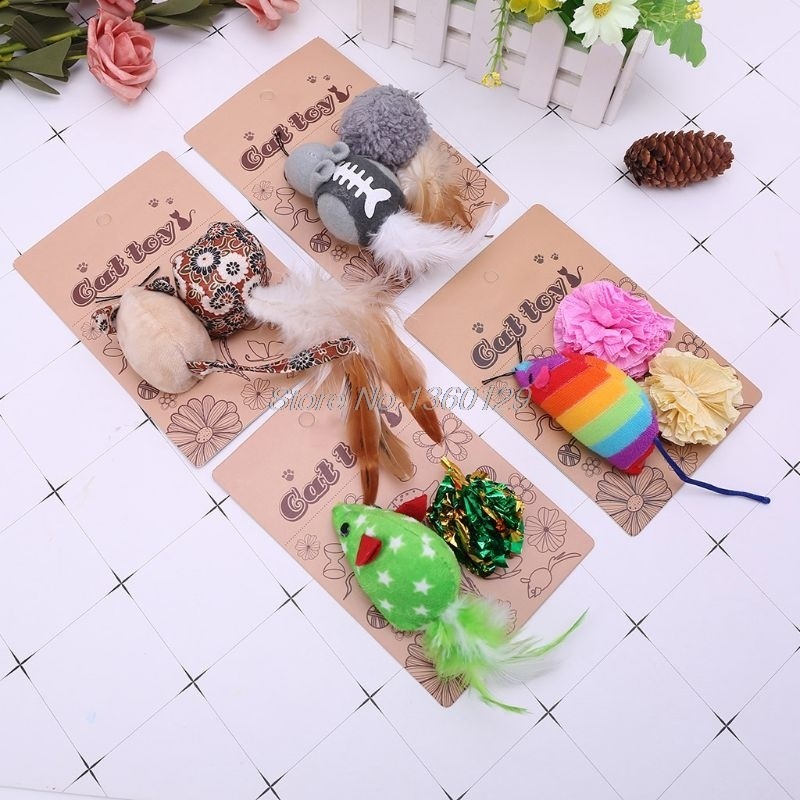 Mice Animal Cat Toys Catnip InteractiveToy Christmas Pet Products For Kittens Nov18 Dropship