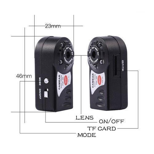 Мини Камара Беспроводной Wi-Fi IP Q7 DV DVR Беспроводные Камеры Brand New Video Видеокамеры Рекордер Ночного Видения Espia Скрытая Няня