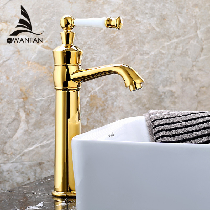 New Luxury High arch Basin Faucet Single Handle Hole Bathroom Vessel Sink Mixer Tap Deck Mounted Hot and Cold Water LH-16926 new pull out sprayer kitchen faucet swivel spout vessel sink mixer tap single handle hole hot and cold