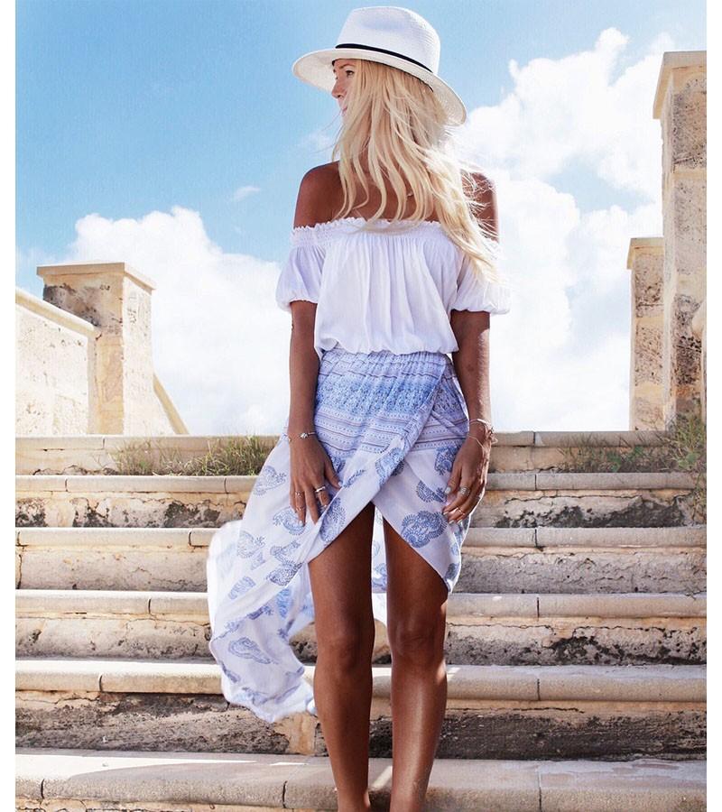 9a9d210cb Nuevo 2016 de verano baratos Casual faldas barato la gasa de bohemia faldas  estilo étnico ropa de estilo tailandés de impresión falda de venta al ...