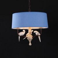 Средиземноморский старинные птица люстра. Смола птицы пастырское северной спальни, Бар гостиная столовая падения освещения лампы