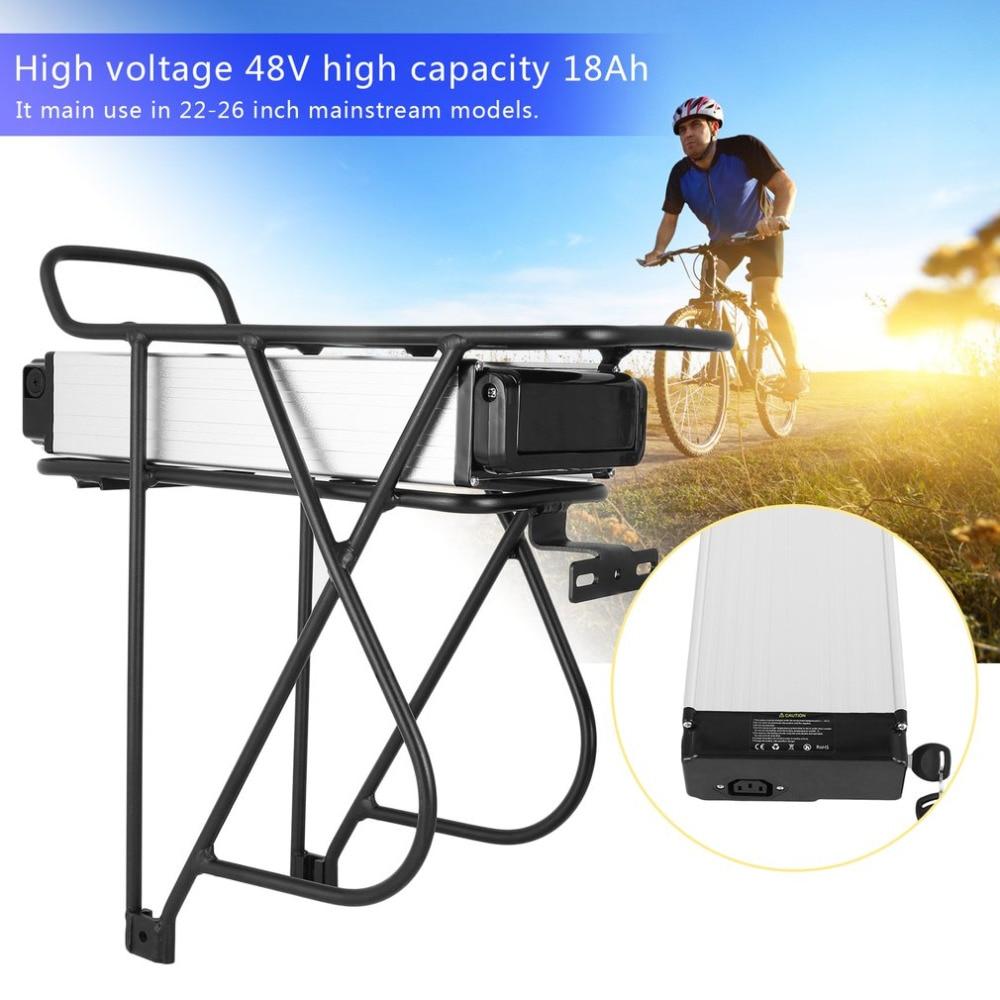 V De Frein 48 V 18AH 1KW E-Vélo Vélos de Montagne Vélos Porte-Bagages Arrière Batterie De Remplacement Li-Ion Batterie Conversion Kit UE Plug