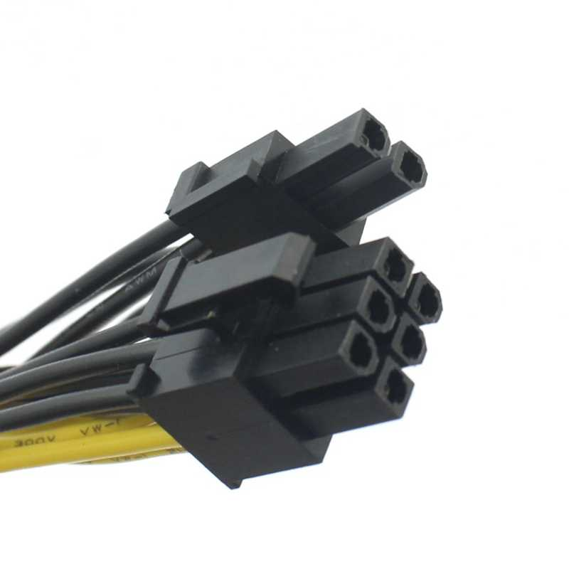 Pci-E بطاقة صورة وحدات كابل الطاقة 8Pin إلى ثنائي 8 (6 + 2) دبوس لسلسلة Antec Eco Tp Np 18Awg