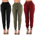 Women Casual Fashion Loose Pants With Zipper Packet Hot Women Leggings Pants