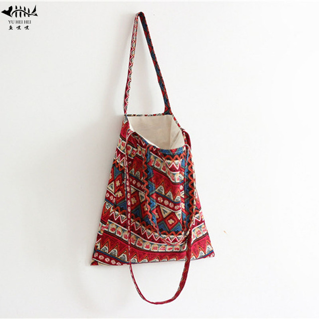 Vintage Bohemian Women Handbag Purse Shoulder Crossbody Bag Tote Bags Lady  Girl Hippie Shopping Book Travel Bags free shipping 10a3f58253