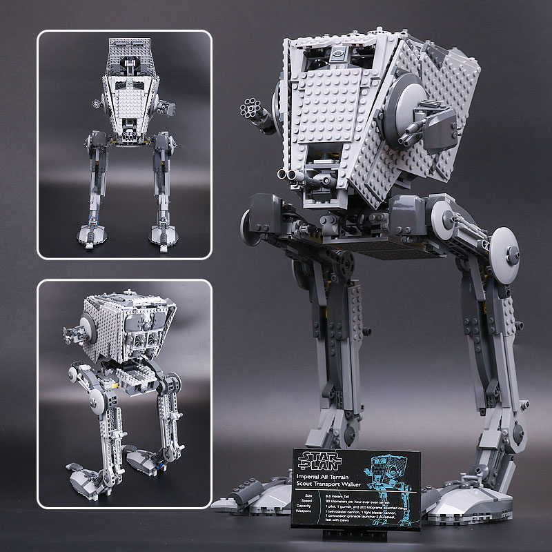 In Stock Star Series wars AT Walker ST Model 05052 compatible with 10174 Set Building Blocks
