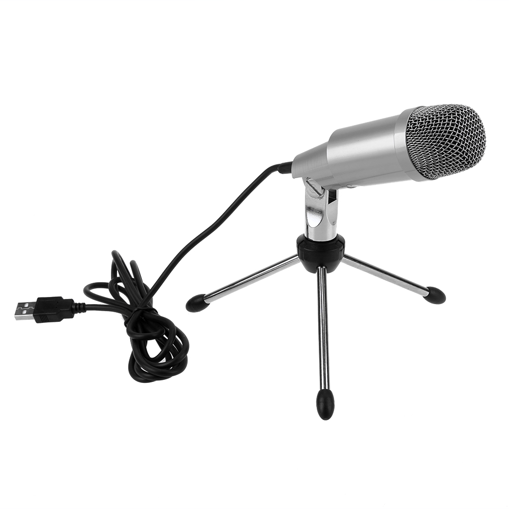 K-2 Professional Condenser Microphone for Computer PC Laptop Recording Singing USB Microphone Kit Mic with Stand Lifting Holder professional recording sound wired condenser lecture microphone with black mic stand laptop microphone xlr cable recording