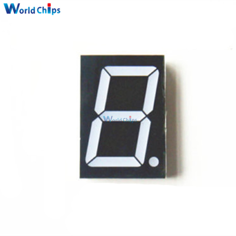 5Pcs 10 Pins 1.8 Inch 1 Bit Digit Red Led Display 7 Segment Common Cathode Digital Display