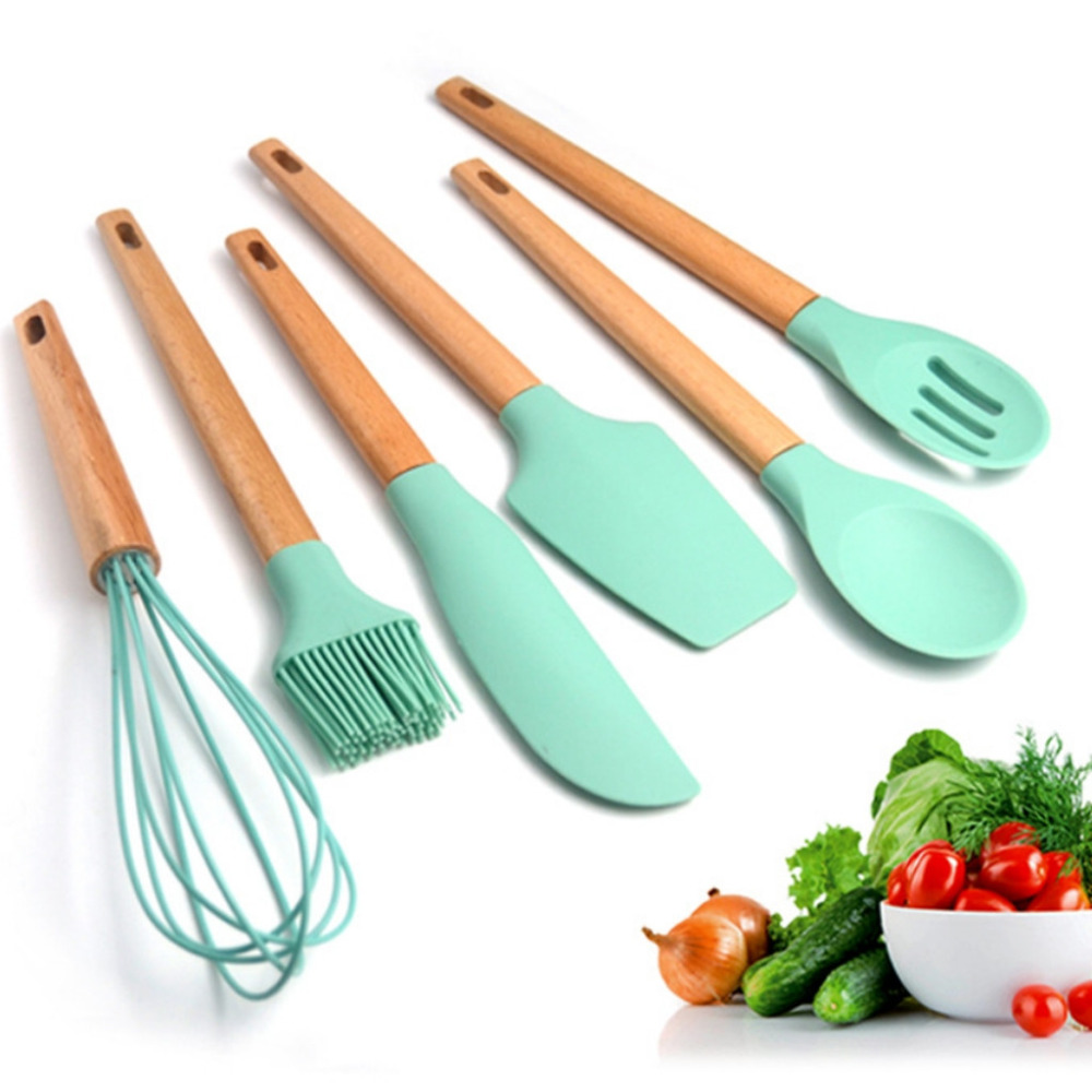 Baking Tools For Cake Silicone Spoon Baking & Pastry Spatulas Scraper Mixer Dough Butter Ice Cream Scoop z0306