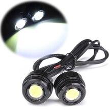 1 пара 12V 3W 8000-8500K яркий светодиодный зеркальный светильник для мотоцикла, дневной ходовой противотуманный фонарь