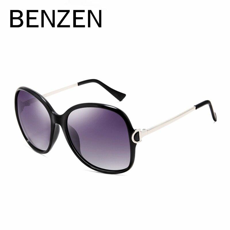 BENZEN Occhiali Da Sole Donne Polarizzato UV 400 Del Progettista di Marca Occhiali Da Sole Oversize Occhiali Femminile Oculos De Sol Feminino Con Il Caso 6033