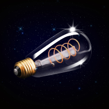 LED Lamp ST64 Bulb E27 SEALIGHT Edison Flexible Filament Vintage Spiral 220v 4w 2200K Bulbs LED