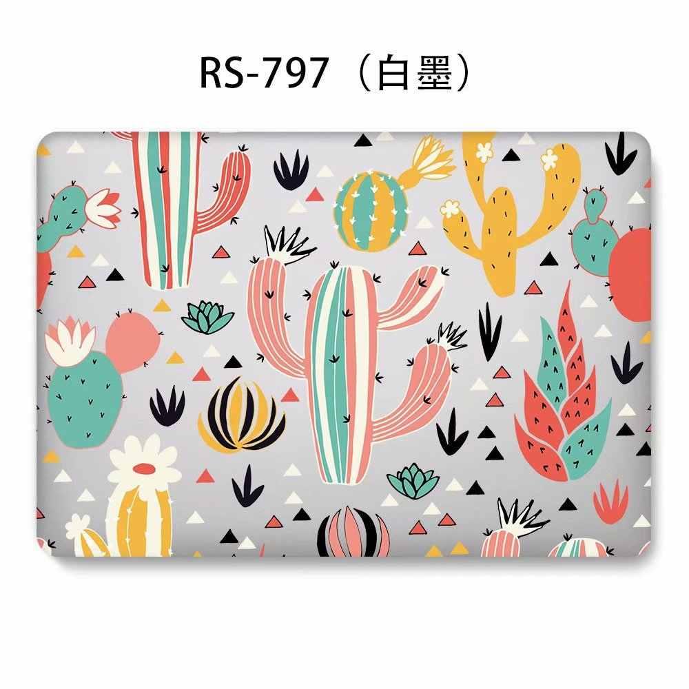 Etui pour ordinateur portable Fruit et Cactus pour Apple Macbook Air Pro Retina 11 12 13 15 étui pour ordinateur portable pour 2018 Macbook 13 housse de clavier