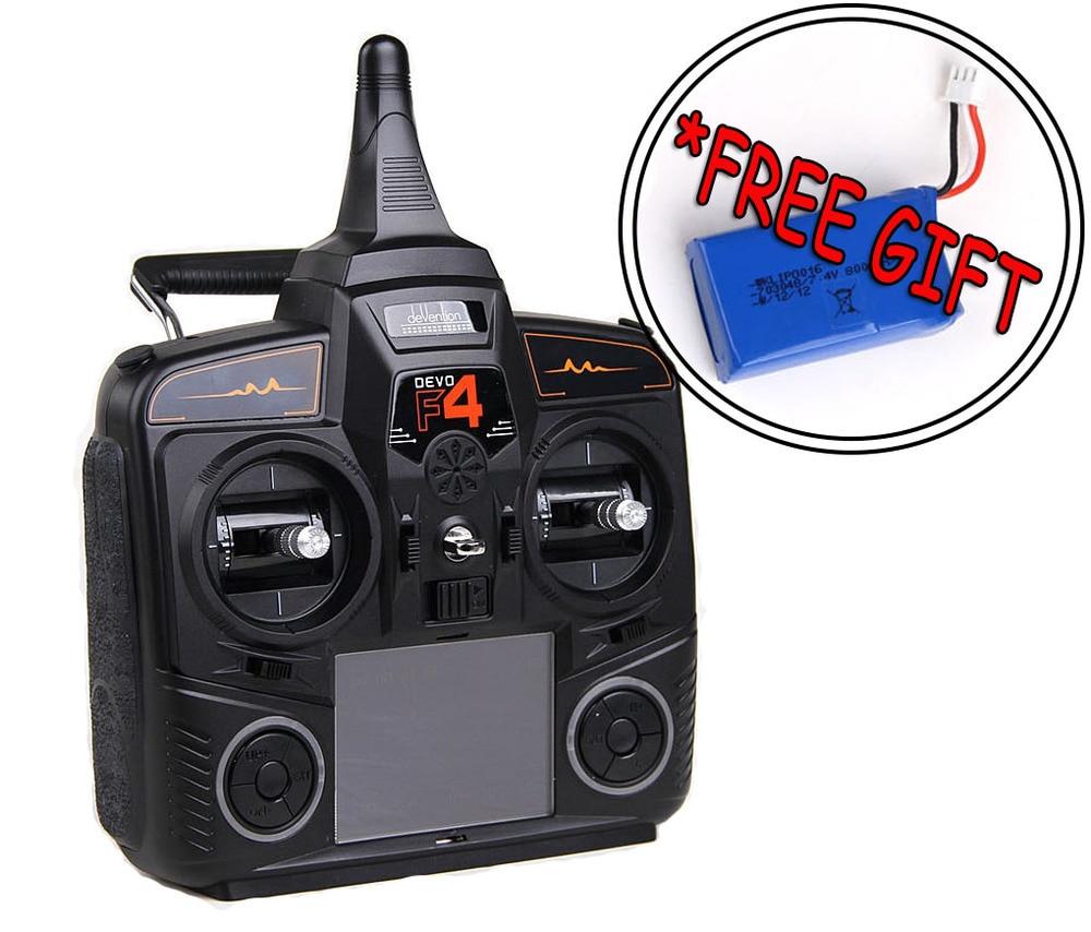 Free Gift! WALKERA DEVO F4 FPV Devention 2.4 GHz Transmitter 100% OriginalFree Gift! WALKERA DEVO F4 FPV Devention 2.4 GHz Transmitter 100% Original
