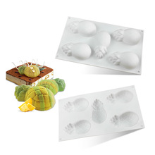 Silicone Cake Molds Cakes Decoration Tools DIY Non-stick Mousse Molds 3D Pineapple Baking Pan For Home Brownie Kitchen Tools цена и фото