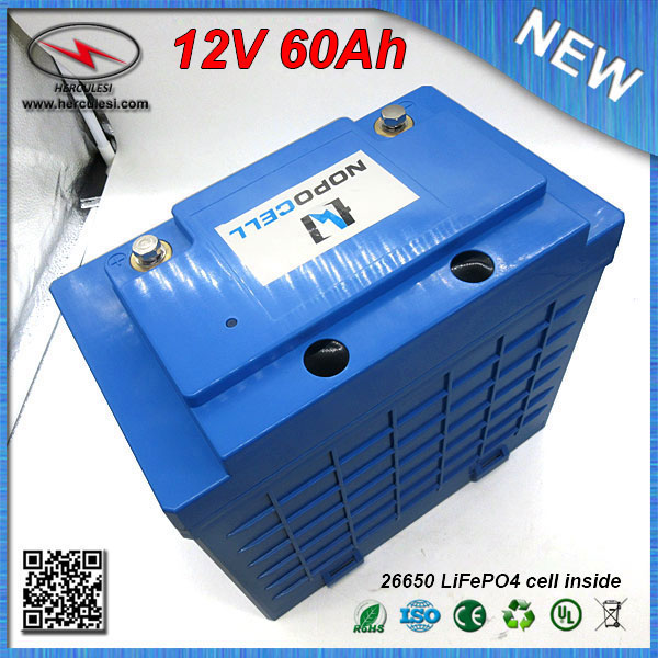 Lifepo4 12v 60ah Lithium Iron Phosphate Battery Pack