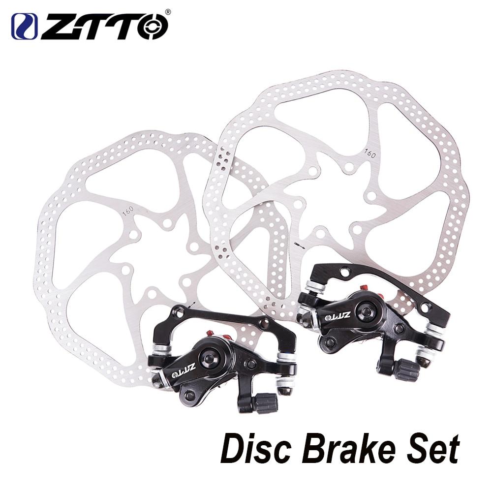 160mm Rotors Disc Brake MTB Mountain Bike Hydraulic Brake Set Front Rear Black