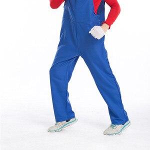 Image 4 - Super Mario Bro Luigi Cosplay Costume Set Rosso Verde Cappuccio del Cappotto Pantaloni Tute E Salopette Felpe Costumi di Halloween per Adulti Vestito Degli Uomini