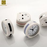 Multi function Music Alarm Clock Snooze Night Light Electronic Desk Talking Clocks Bedside Table Masa Saati Glow Clock SKJ001