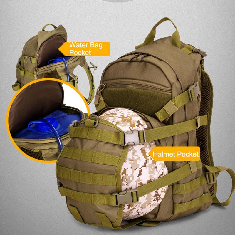 Sac tactique 25L sac à dos militaire Molle hommes sacs de voyage en plein air Fanny chasse Camping sac à dos armée randonnée sac tactique XA107WA - 2