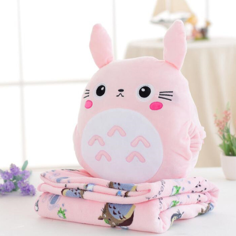 Cartoon My Neighbor Totoro Stuffed Cushion Plush Hand Warmer Blanket Birthday Christmas Gift #955