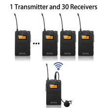 BY-WM6 UHF Wireless Tour Guide System for Tour Guiding, Teaching, Travel, Field Interpretation – 1 Transmitter and 30 Receivers