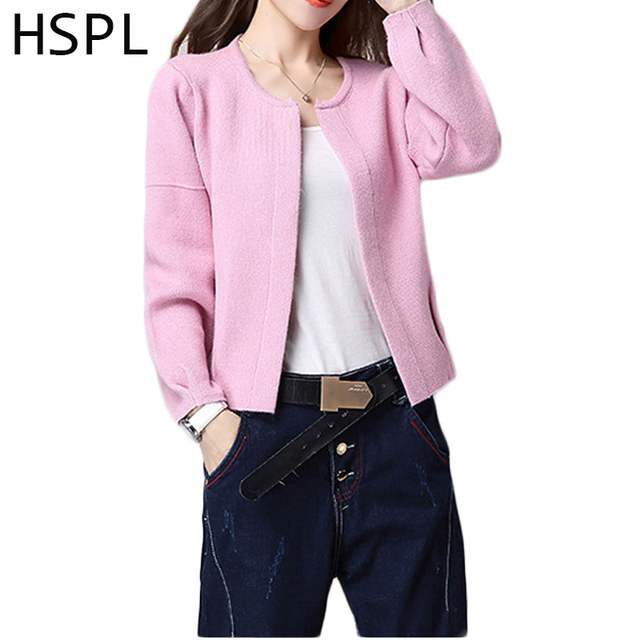 Cardigan Women Knitted Female Pink Sweater For Autumn 2017 Hot ...