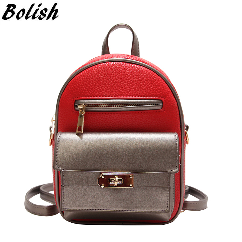 Summer Panelled Multispace Women Mini Backpack Gril Preppy Style School Bag Elegant Travel Bag Fashion Shoulder Bag Phone Pocket ...