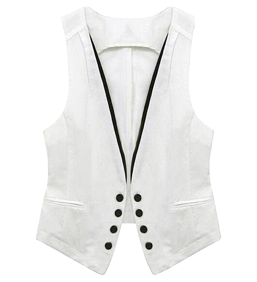 Fashion Brand V Neck Vest Women Coat Tops summer women vest coat