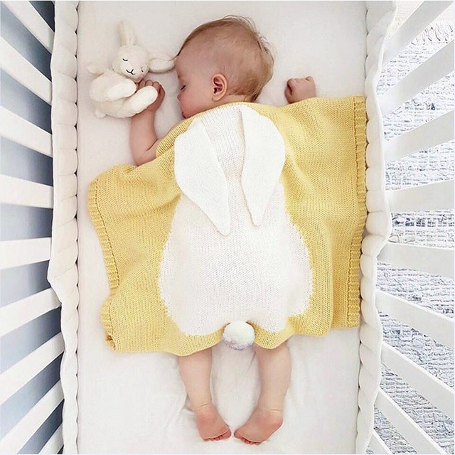 Baby Bedding Newborn Blanket Children Cute Wool Infant 73 105 Beach