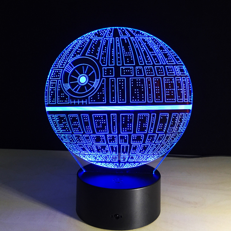 Us 11 62 25 Off Free Ship Star Wars Touch Table Lamp 7 Colors Changing Desk Lamp 3d Lamp Novelty Led Night Lights Death Star Led Light Drop Ship In