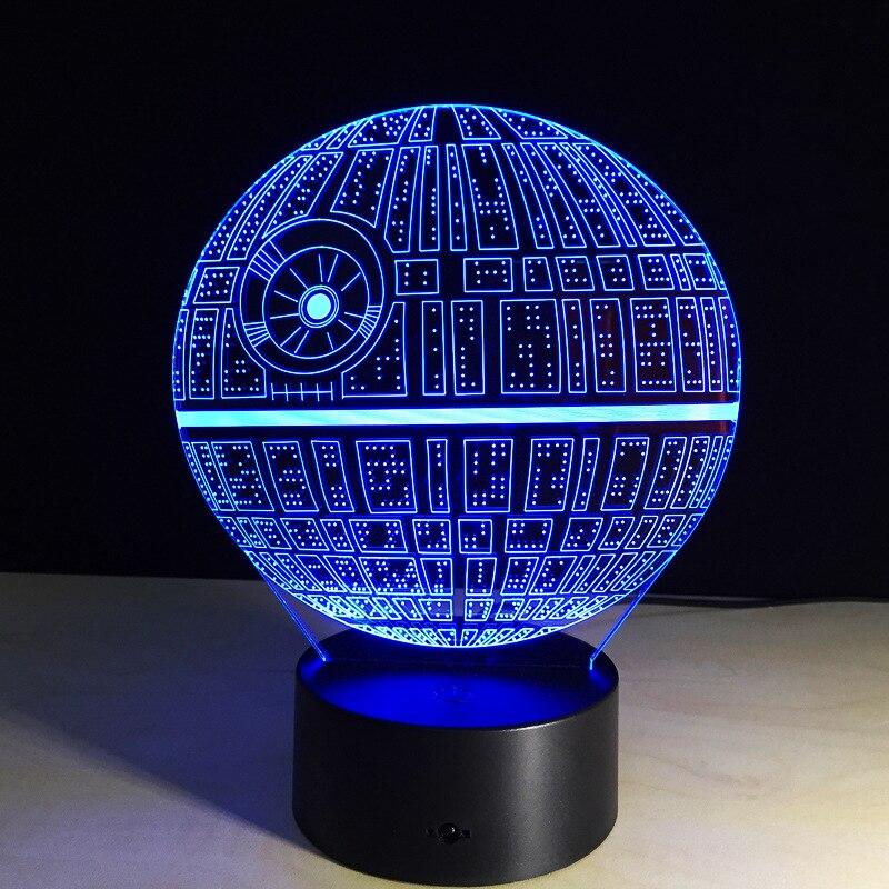 freies schiff star wars touch tischlampe 7 farben ndern schreibtischlampe 3d lampe neuheit led nachtlichter todesstern led licht drop ship