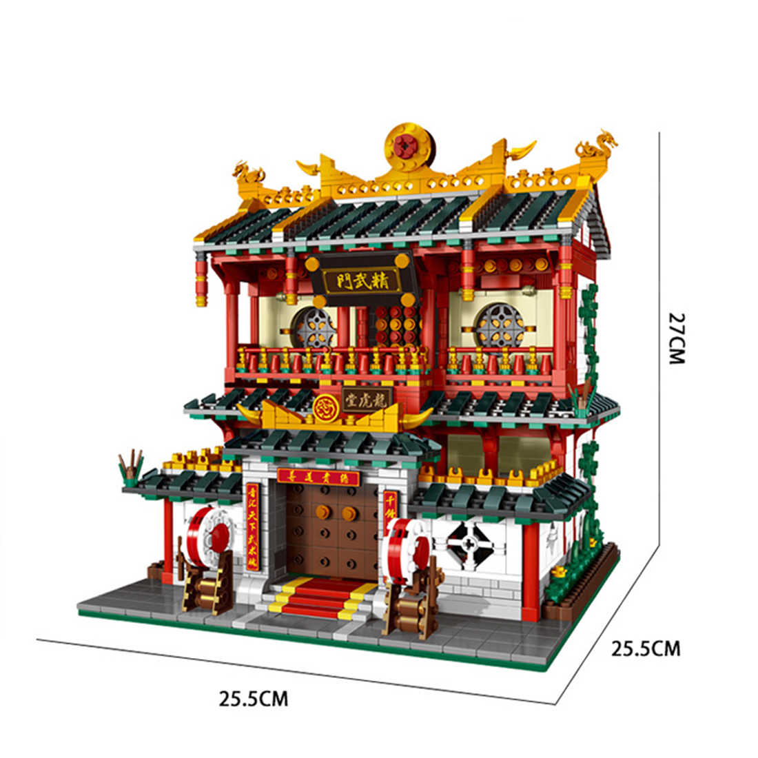 hot city creators Street view Chinese chinatown Kung Fu Martial Arts Club moc building blocks model figures brick toys for gift