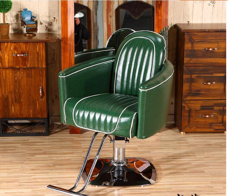 Купить с кэшбэком Electric can be put down lift haircut chair. Hairdressing chair..