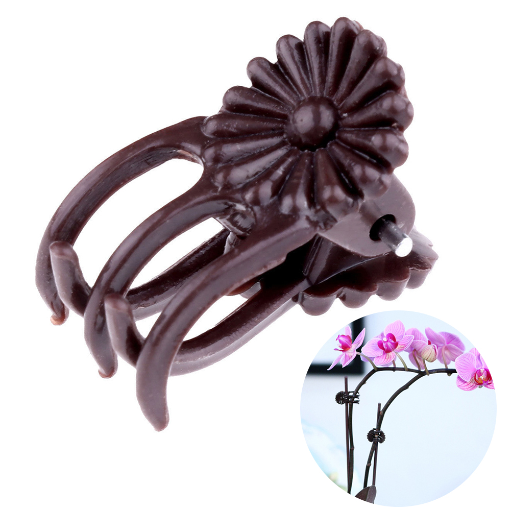 100Pcs Clips Garden Grow Upright Grafting Tool Plastic Decoration Orchid Hanging Plant Support Stems Vine Flower Stalks Fix